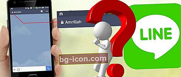 Varför finns det ett hänglås på LINE Chat? Visar sig att detta är hemligheten